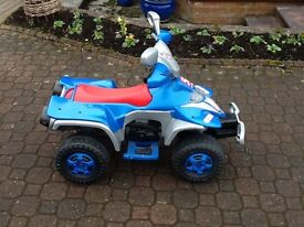 Childs Electric Ride-on Quad Bike. (See 5 x photos)