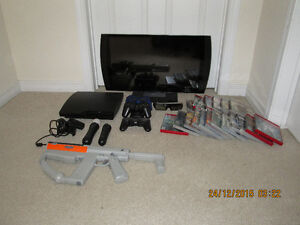 PlayStation 3 with 3D Monitor and accessories