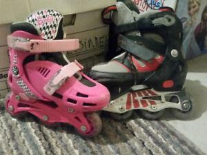 patin à roulettes/glace