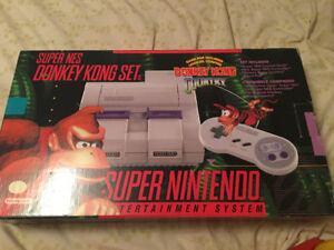 Super Nintendo Snes Édition Donkey Kong Comme Neuf