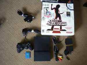 Playstation 2 (PS2) System With DDR Supernova/Eyetoy