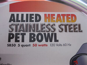 NEW, NEVER USED: Allied Stainless Steel Heated Pet Bowl, 5-Quart