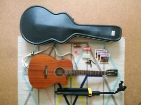 Tanglewood Electro-Acoustic Guitar + accessories