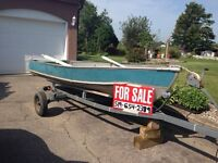 14 ft aluminum boat & trailer