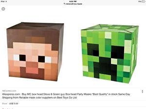 Minecraft box head. Creeper St. John's Newfoundland image 1