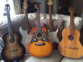 Bundle of vintage guitars