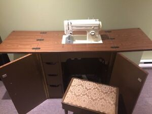 Vintage Kenmore Sewing machine and cabinet