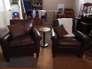 100% Genuine Leather Chairs! Espresso Brown! $200 Each OBO!
