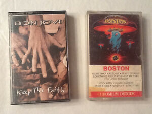 Boston and Bon Jovi cassettes