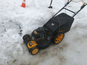 Poulan pro with honda engine self propelled mower