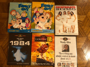 Family Guy S1, S2 and S3. Desperate Housewives S1 + More DVDs