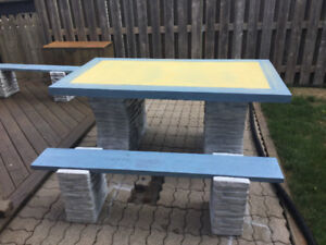 Stone/Heavy Metal Picnic Table