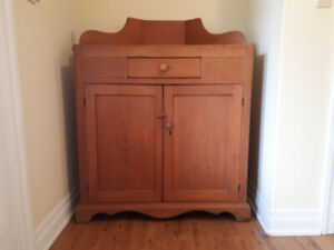 Antique Pine Corner Cupboard  - Circa 1900