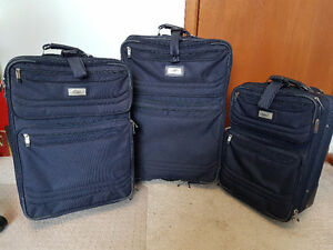 Matching three piece luggage set