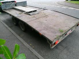 Ifor williams beavertail trailer 14ft x 6ft6