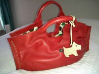 Red Radley Bag for sale. Hardley Used, Lovely Condition