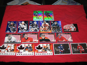 Over 50 different McDonald's hockey insert cards