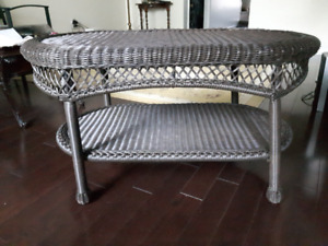 Wicker resin Patio table