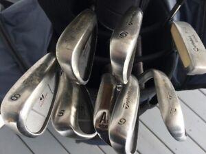 Batons de golf TaylorMade droitier avec sac et charriot