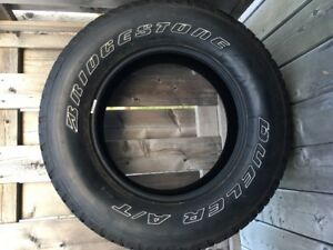 Winter Tires -- 255/70SR-18 Bridgestone Dueler A/T Tires