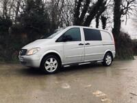 2009 09 MERCEDES VITO 115 CDI SPORT DUALINER COMPACT 6 SEATER 6 SPEED MANUAL