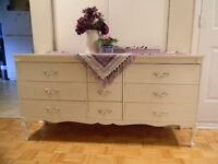 French Provincial Style 9 Drawer Dresser
