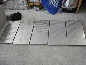 Large 5 Pannel Wall Home Decor Art