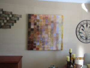 LARGE MODERN PAINTING DONE ON CANVAS