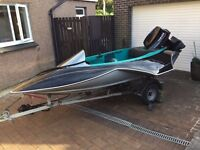 Speedboat 50hp Yamaha & Trailer