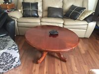 Coffee and end table elegant gorgeous solid wood a real deal !!