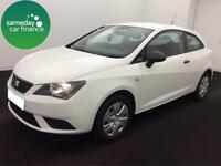 £146.60 PER MONTH WHITE 2015 SEAT IBIZA 1.2 SC S 3 DOOR PETROL MANUAL