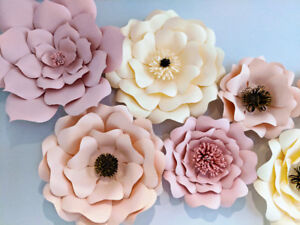 Baby Shower/Party Decor - Beautiful Paper Flowers For Rent