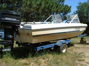 GREAT DEAL 60 merc boat and trailer
