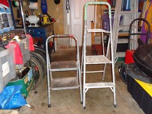 TWO SMALL STEP LADDER
