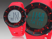 OHSEN Red Silicon Band Fashion Watch LED Display