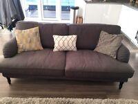 1 year old Ikea grey three-seat sofa RRP 525