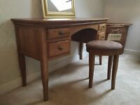 Solid French Oak Dressing Table and Chest of Drawers