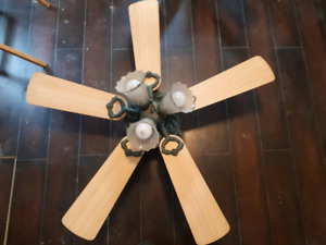 2 antique style ceiling fans