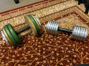 Dumbbells for sale...65lbs and 35lbs for sale.....