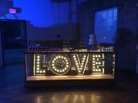 """Marquee """"LOVE"""" sign for rent"""