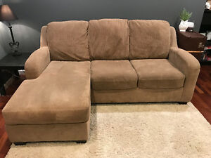 Microfibre sectional sofa couch