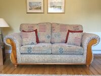 Stunning 2 & 3 seater matching sofas with foot stool. Immaculate condition.