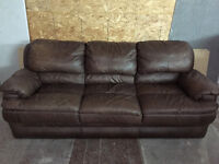 Italian Leather Three Seater Couch (worth 5000$ new)