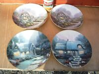 DECOR PLATES BY ARTIST THOMAS KINKADE DATED 1991