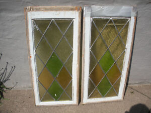 Windows Stained Glass  - Retro/Old/Vintage, $65 for both.