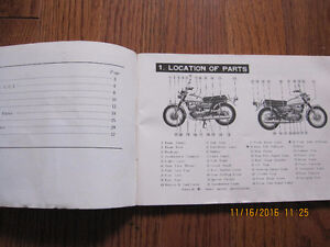 1972 Suzuki T500J Owners Manual Sarnia Sarnia Area image 2