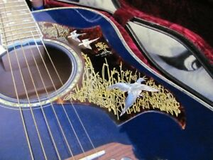 blue Gibson dove in flight acoustic guitar for sale