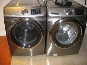 Brand new SAMSUNG front load laundry pair. NEVER BEEN USED.