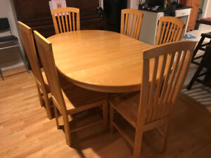 Solid maple table & chair set