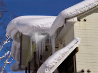 Rooftop Snow Removal by Professional